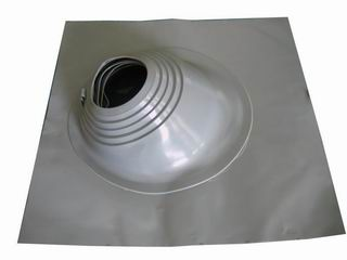 Silicone painted roof flashing