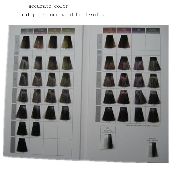 strip swatches hair color catalogue