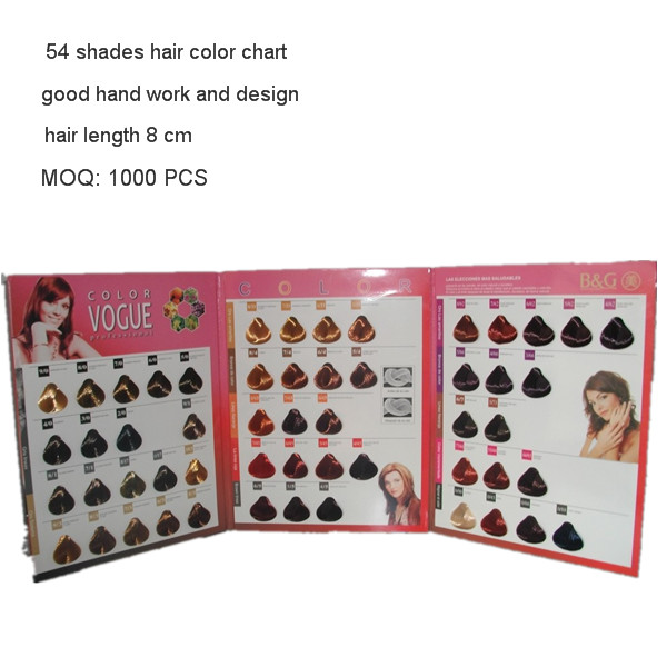 3 folded hair color catalogue