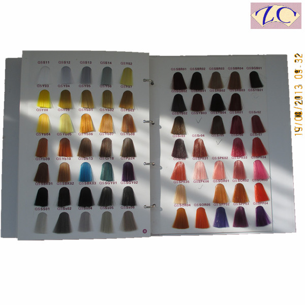 Italian mixing color customized hair swatches