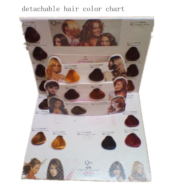 calendar hair color chart
