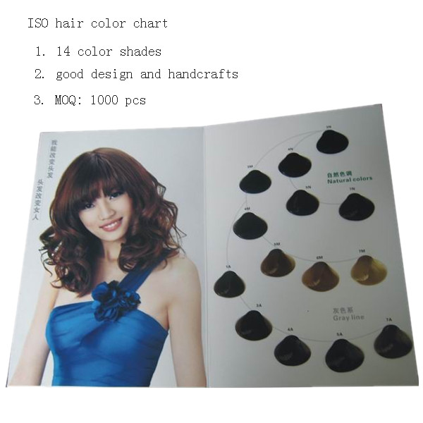 14 shades hair color catalogue