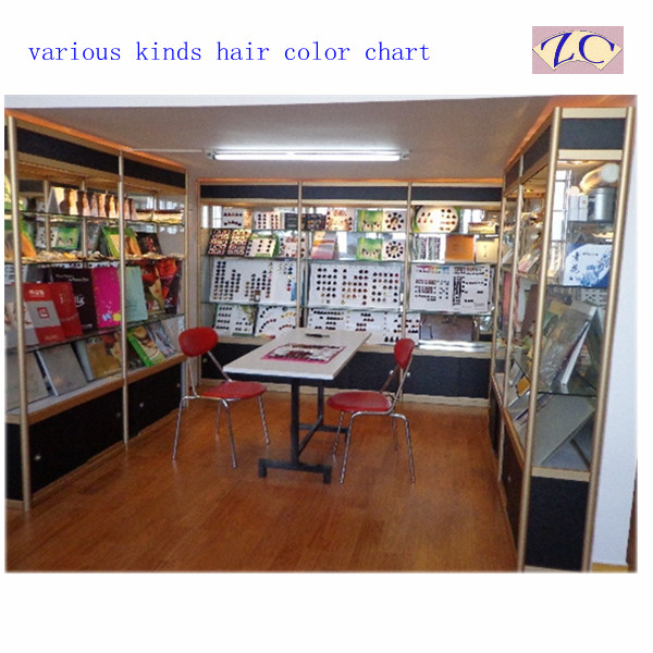 hair color chart show room