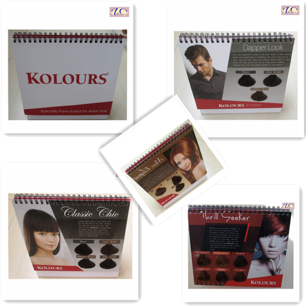 calendar hair color brochure