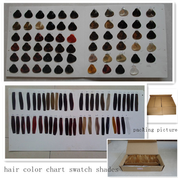 customized color hair swatch