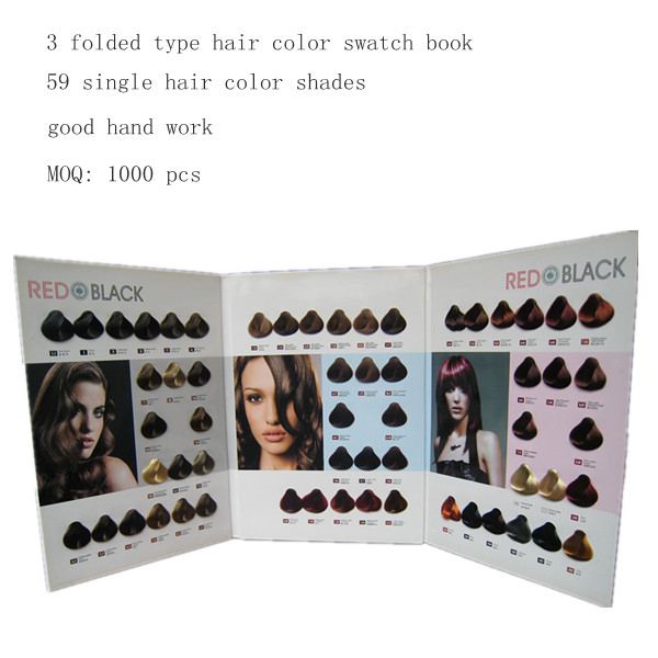 customized hair color chart
