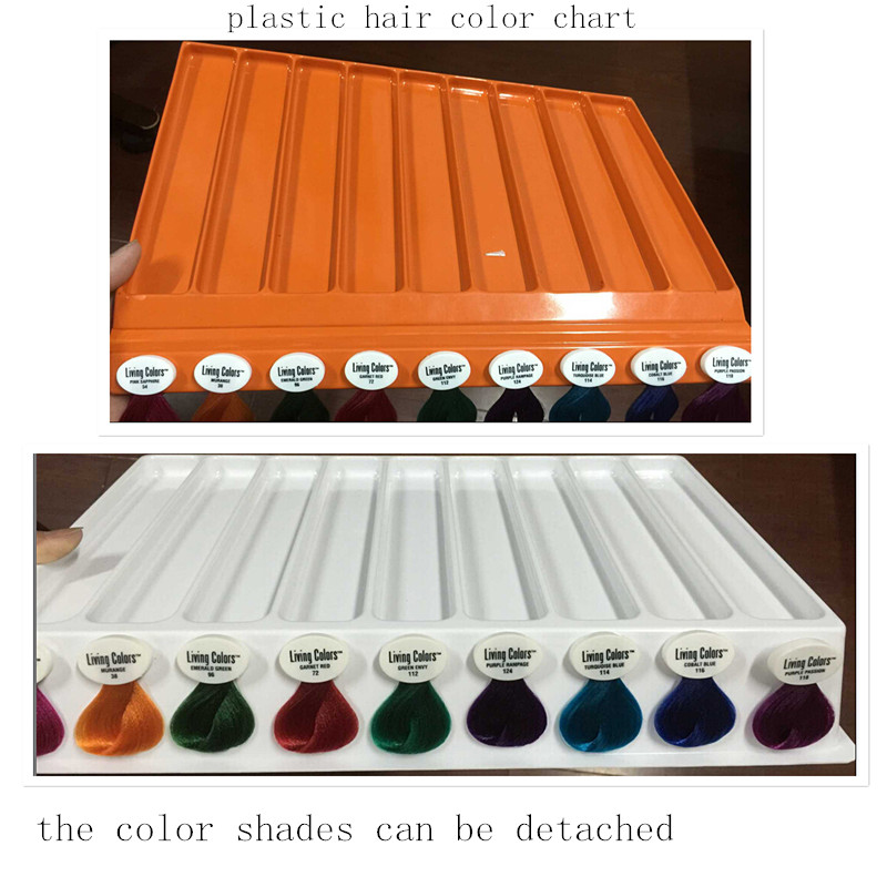 plastic detachable hair color catalogue